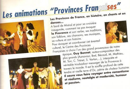 Croisière inaugurale provinces françaises