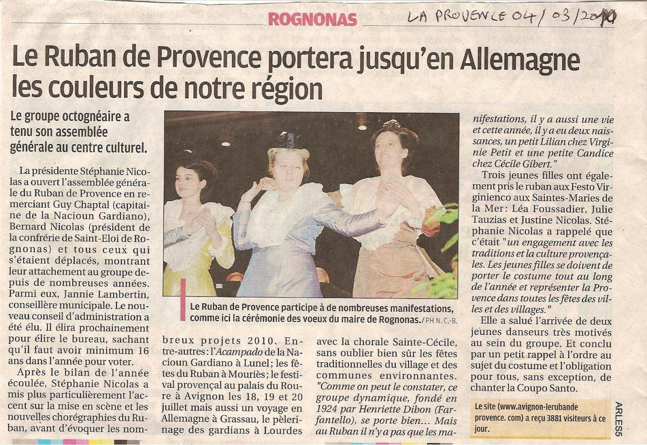 La Provence Rognonas 04 03 2010