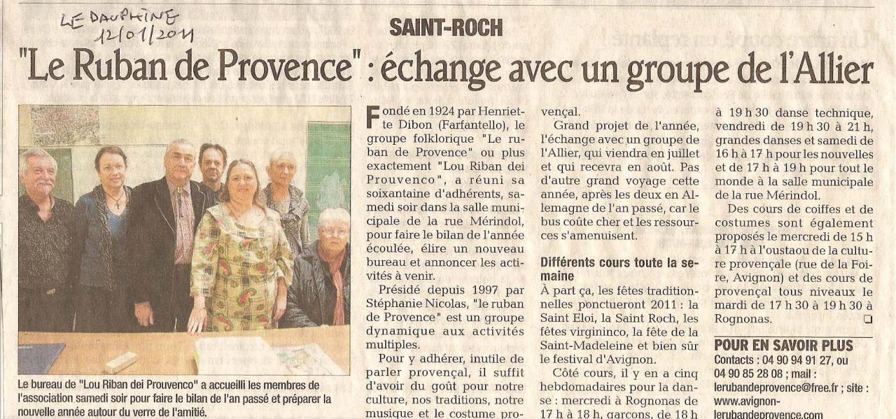Le Dauphiné 12 01 2011