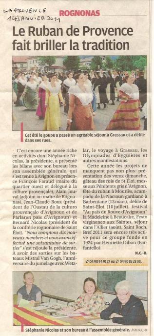 La Provence Rognonas 14 01 2011
