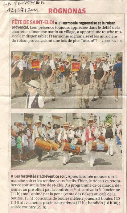 La Provence Rognonas 12 07 2011