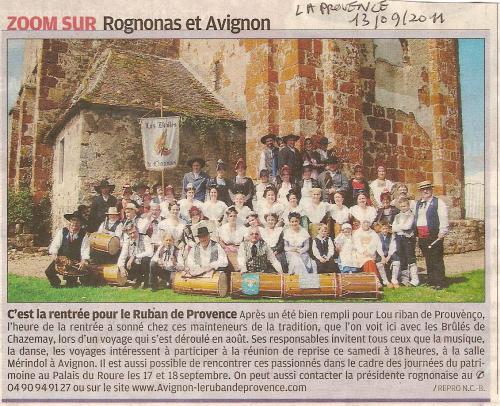 La Provence Presse du 13 09 2011