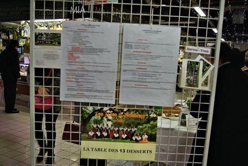 Avignon les halles exposition table des 13 desserts 4