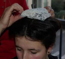 Pose du dessus de coiffe