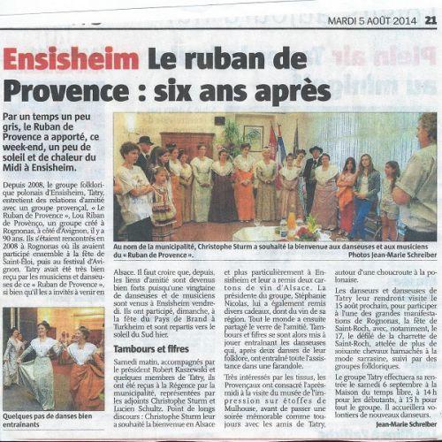 Presse ensisheim 2014